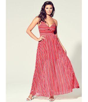 Vestido Guess Sl Marrah Maxi Dress S9C4 Rosado