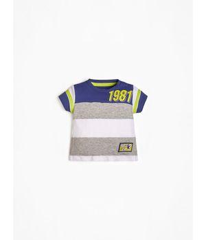 Polera G Kids Ss T-Shirt Line Print S053 Multicolor