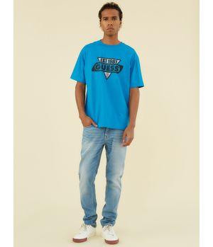 Polera Guess Go Ss Ovrszd Racer Logo Tee G7Bi Azul