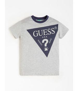 Polera G Kids Ss T-Shirt Classic Logo Tri Dekb Gris