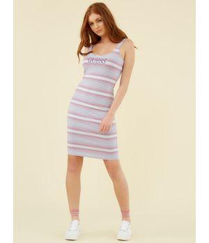 Vestido Guess Guess Logo Stripe Dress S4B0 Multicolor
