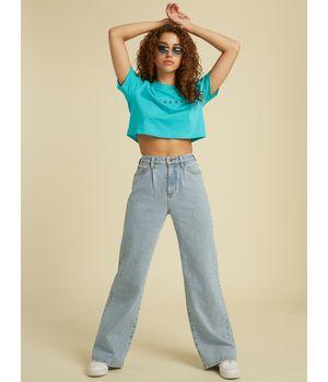 Jeans Guess Go Yc Wide Leg Lt Pant Gota Celeste
