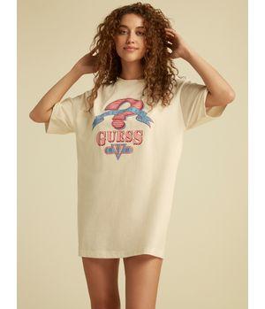 Polera Guess Go Davis Ss Shirt Dress G1O6 Rosado
