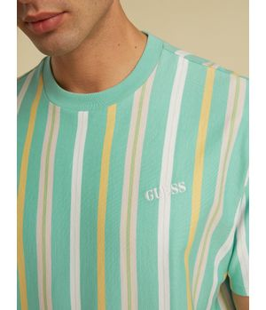 Polera Guess Go Ss Murren Stripe Tee S887 Verde