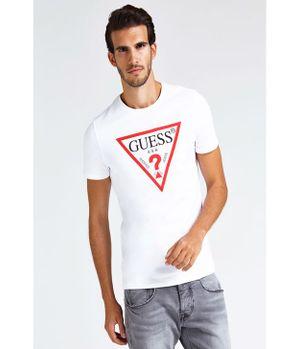 Polera Guess Cn Ss Core Original Logo Tee Twht Blanco